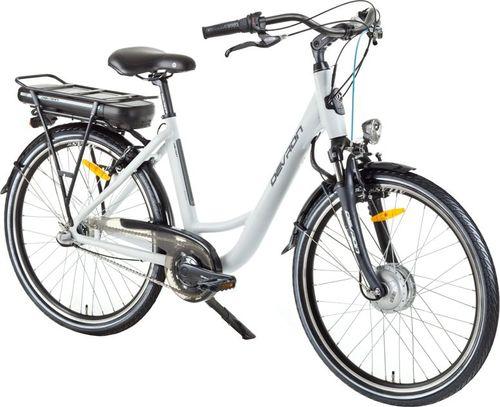 """Devron Miejski rower elektryczny Devron 26120 26"""" - model 2017 Kolor Biały, Rozmiar ramy 18"""" - 2176120DR4690"""