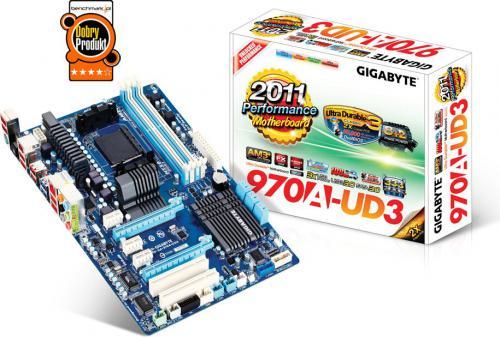 Płyta główna Gigabyte Gigabyte GA-970A-UD3,DualDDR3-1866, SATA3, RAID, GBLAN, ATX (GA-970A-UD3) AM3/AM3+