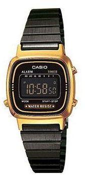 Zegarek Casio Zegarek damski Retro czarny (LA670WEGB-1BEF)