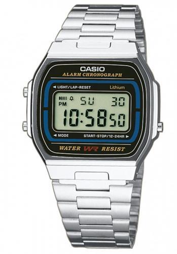 Zegarek Casio Zegarek Retro srebrny (A164WA-1VES)