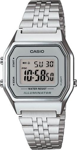 Zegarek Casio Zegarek damski Retro srebrny (LA680WEA-7EF)