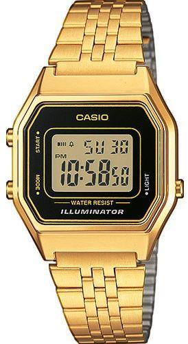 Zegarek Casio Zegarek damski Retro złoty (LA680WEGA-1ER)