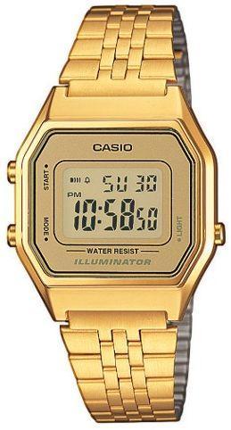 Zegarek Casio Zegarek damski Retro złoty (LA680WEGA-9ER)