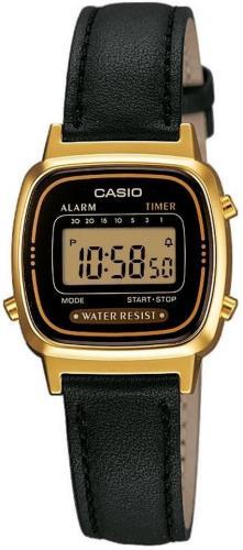 Zegarek Casio Zegarek damski Retro czarny (LA-670WEGL-1EF)