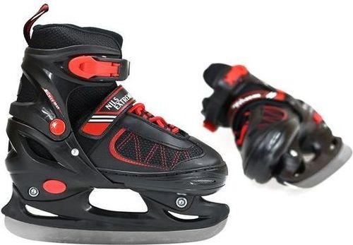 NILS Extreme NH7103 A 2w1 Black/Red Łyżworolki Z Wymienną Płozą Hokejową Rozm. M