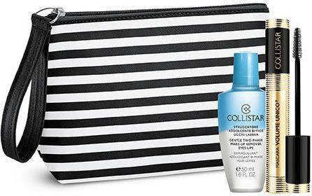Collistar Zestaw makijażowy Volume Unico Mascara Black 13ml + Struccatore Addolcente Bi Fase + kosmetyczka