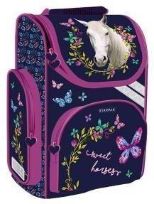 Starpak Tornister szkolny Horses granatowo-różowy (395875)