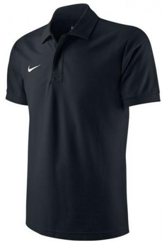 Nike Koszulka piłkarska TS Boys Core Polo czarna r. XS (122-128cm) (456000 010)