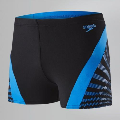 Speedo Kąpielówki męskie Chevron Splice Aquashort Black/Blue r. 36 (8113487669)