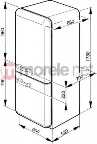 smeg lata 50 39 kremowa prawe zawiasy s fab32p7 w. Black Bedroom Furniture Sets. Home Design Ideas