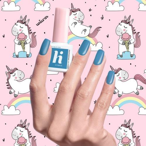 Hi Hybrid Lakier hybrydowy Unicorn nr 318 Grey Blue  5ml