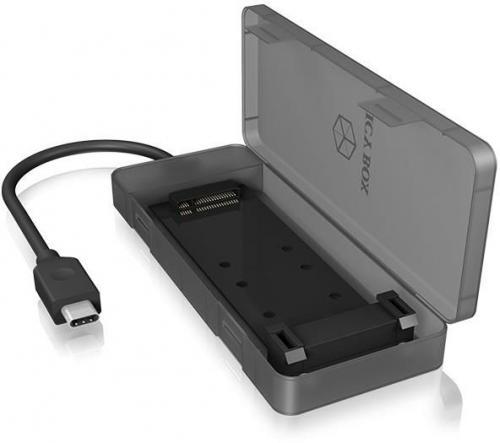 Etui RaidSonic IcyBox Obudowa Zewnętrzna na dysk M.2 SATA SSD, USB 3.1 Type-C (IB-185M2)