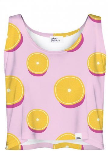 Colour Pleasure Koszulka damska CP 035 114 różowo żółta r. ML ID produktu: 4108010