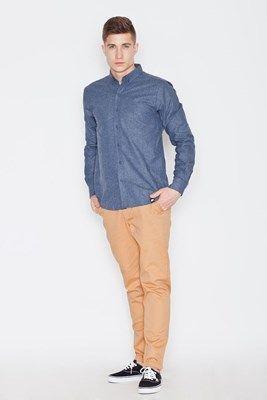 Visent Koszula męska  V010 Niebieska r. S