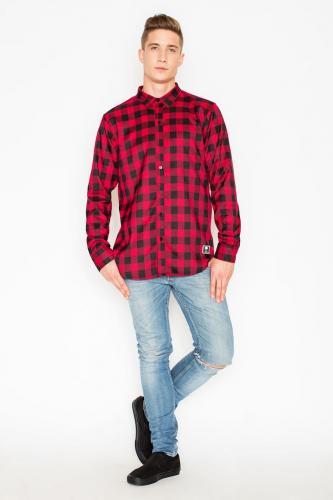 Visent Koszula męska  V026 Czerwona r.M