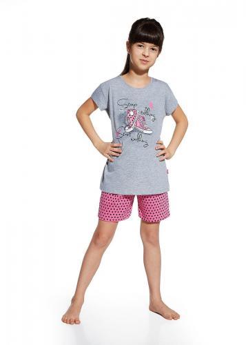 Cornette Piżama Girl KR 787/51 Shoes melanż 92 Melanż szary 92