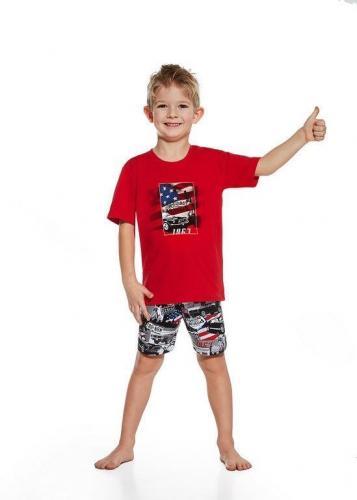 Cornette Piżama dziecięca 789/53 America czerwona r. 128