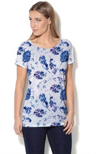 0ec0963557 Colour Pleasure Koszulka CP-034 154 biało-niebieska r. XL XXL w ...