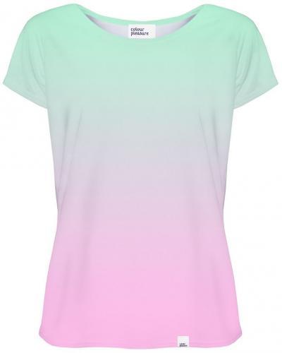 Colour Pleasure Koszulka CP 034 62 turkusowo różowa r. XS S ID produktu: 4133945
