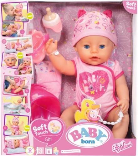 Zapf BABY born® Lalka Soft touch girl blue eyes (824368)