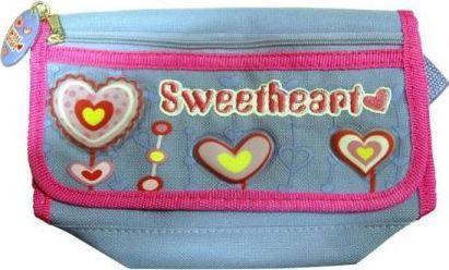 Saszetka Sweet Heart niebieska