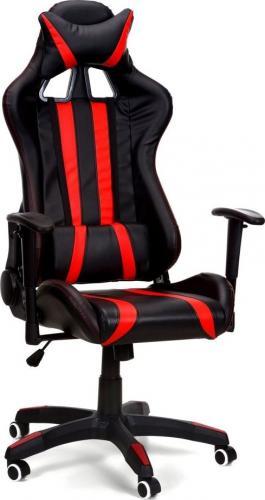 Fotel biurowy czarno-czerwony