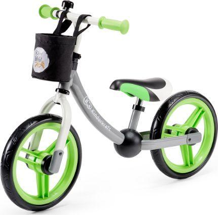 KinderKraft Rowerek biegowy 2WAY next green/gray z akcesoriami (KKR2WNXGRE00AC)