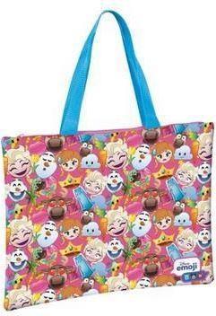 Starpak Torba na zakupy 42x34 Emoji Frozen różowo-niebieska (278509)