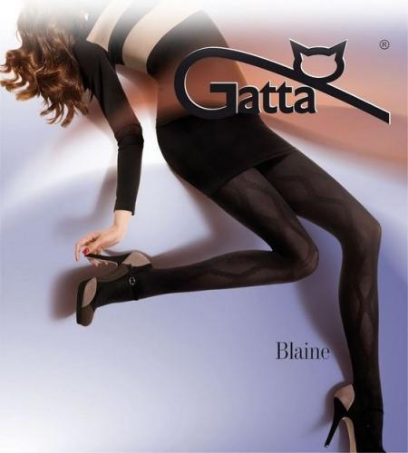 GATTA Rajstopy damskie wzorzyste Blaine wzór 01 50 DEN Sahara r. 2-S