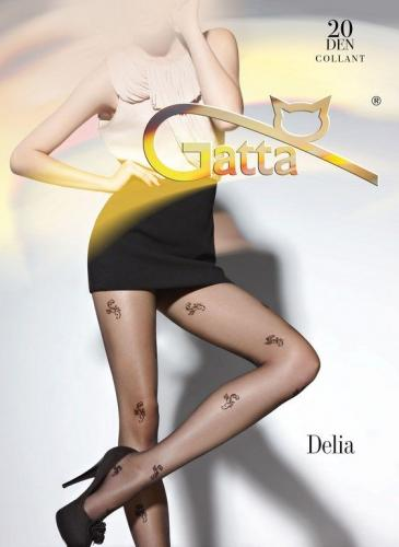 GATTA Rajstopy damskie Delia 20 DEN wzór 08 Beige r. 2-S