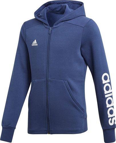 c9857e50f456 Adidas Bluza dziecięca YG Linear FZ HD granatowa r. 128 cm (CF7238)