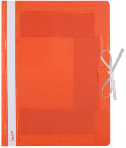 BIUR-FOL Teczka plastikowa, wiązana, pomarańczowa (TW-01-08)