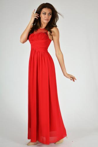 EVA&LOLA Sukienka R1238 czerwona r. L (9709)