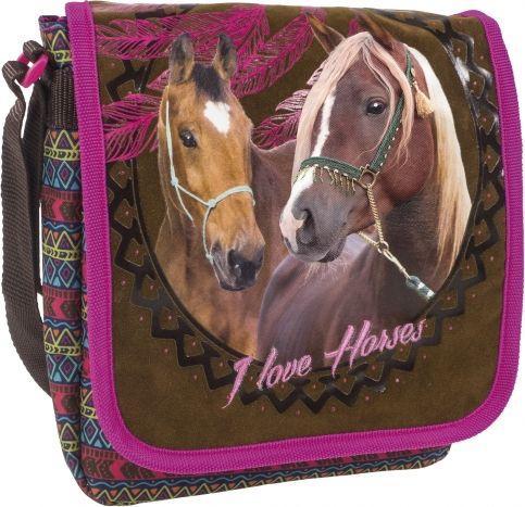 Derform Torebka na ramię A Konie brązowo-różowa  (283403)
