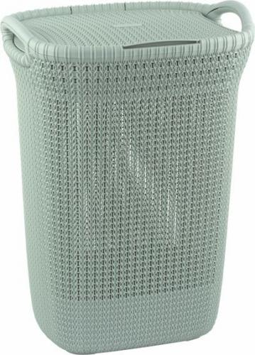 Kosz na pranie Curver Knit 57L błękitny (228411                         )