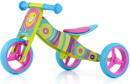 Milly Mally Rowerek biegowy 2w1 Jake Rainbow