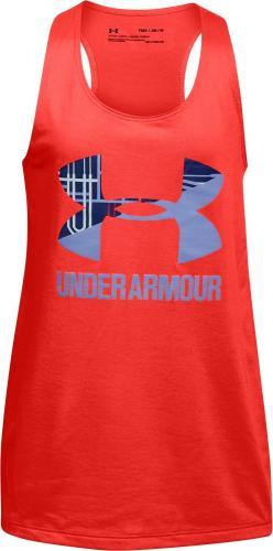 Under Armour Koszulka dziecięca Big Logo Slash Tank czerwona r. XL (1301883-985)