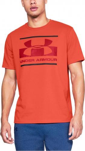 Under Armour Koszulka męska Blocked Sportstyle Logo Orange r. S (1305667847)