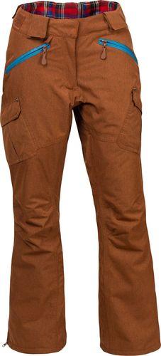 Woox Damskie Spodnie Narciarskie | Brązowe Braccis Lanula Ginger Chica -  42 - 42 - 8595564771661