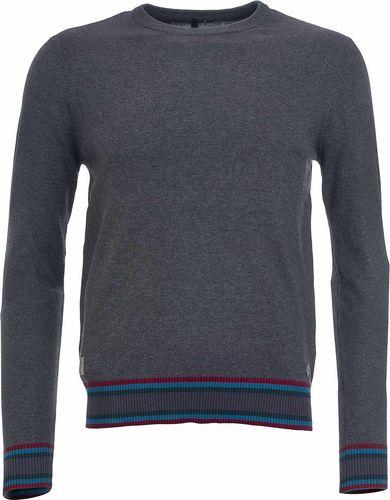 Woox Męski Sweter 100% Wyczesanej Bawełny | Ciemnoszary Fluctus Anthracite -  M - M - 8595564787037