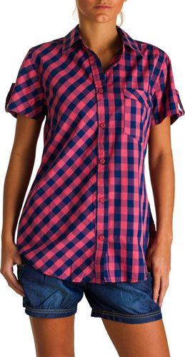 Woox Damska 100% Bawełniana Koszula w Kratę | Różowa Vivid Shirt Pink - Vivid Shirt Pink 38 - 38 - 8595564734628