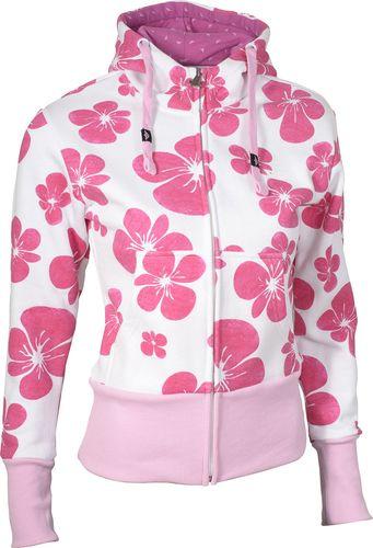 Woox Bluza damska z kapturem Hawaje Pansy White biało-różowa r. 38