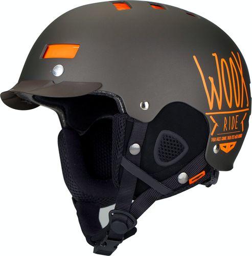 Woox Kask narciarski / snowboardowy z regulacją | Brązowy Brainsaver Brown - Brainsaver Brown S - S - 8595564745952