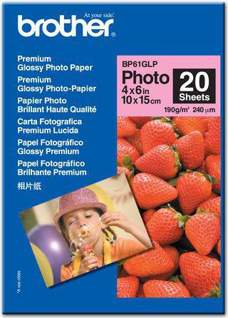 Brother papier Photo Glossy A6 (BP61GLP) 20 ark