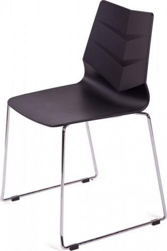 King Home Krzesło SHARK czarne, płozy