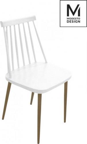Modesto Design krzesło Ribs białe