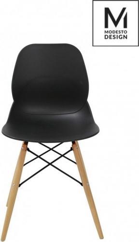 Modesto Design krzesło LEAF WOOD czarne