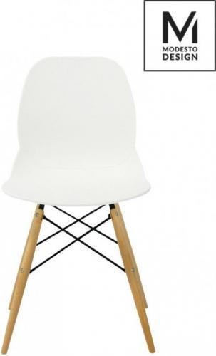 Modesto Design krzesło LEAF WOOD białe