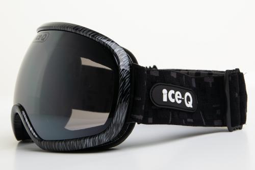 Ice-Q gogle narciarskie Marilleva 3 czarny połysk lines water