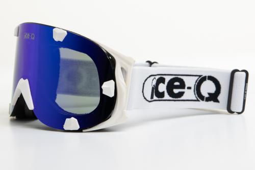 Ice-Q gogle narciarskie Śnieżka 2 biało-czarne